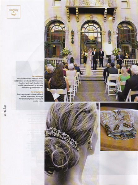 Press from The Knot, Wedding Magazine, Bridal Hair Styling